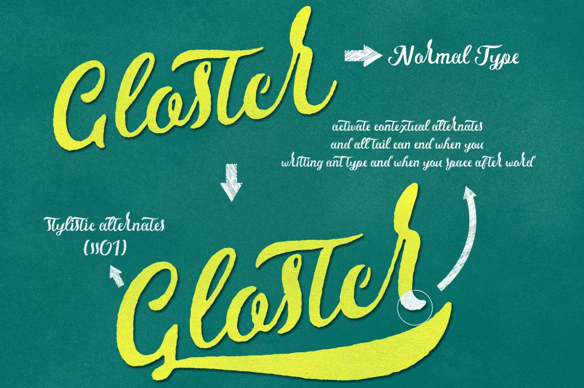 Gloster Typeface - Script - 8