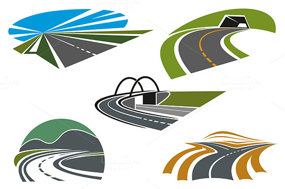 Forked Road And Mountain Highways