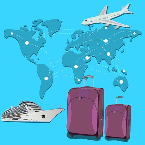 Travel Concept Plane Luggage