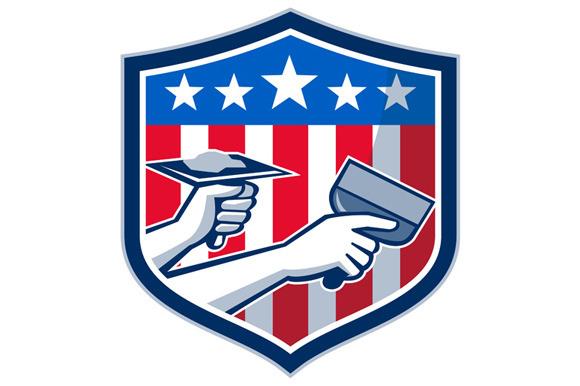 Drywall Repair Service American Flag