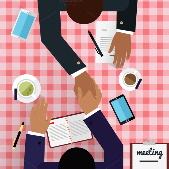 Work Space Meeting Design Flat