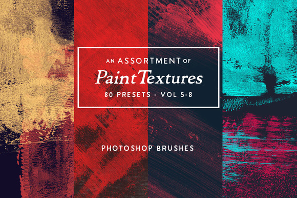 80 Assorted Paint PS Brushes Vol.5-8