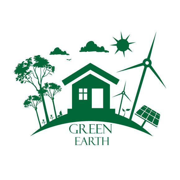 Eco Planet Green Earth Vector