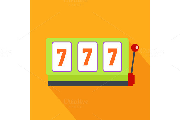 Slot Machine Flat Design
