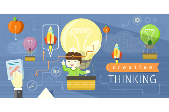Creative Thinking Design Flat