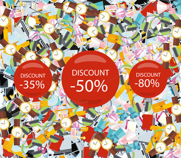 Pattern Consumerism Sale Sticker