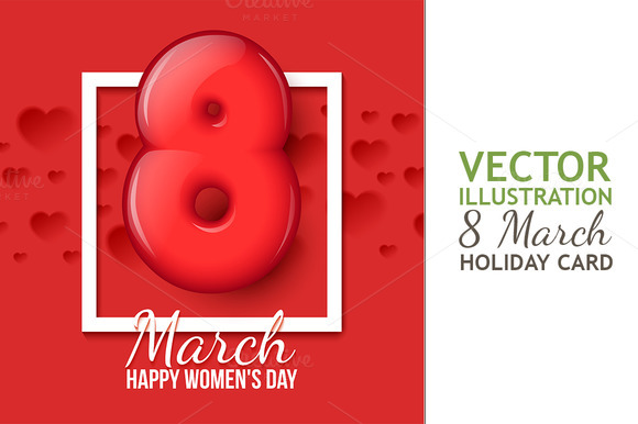March 8 Womens Day Creeting Card