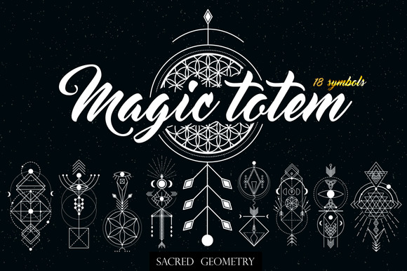 Sacred Geometry. Magic totem - Illustrations