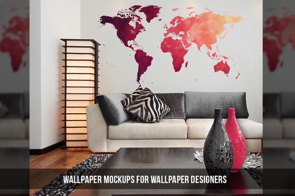 20 Wallpaper Wall Art Mockups