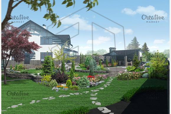 Landscaping Garden Panorama