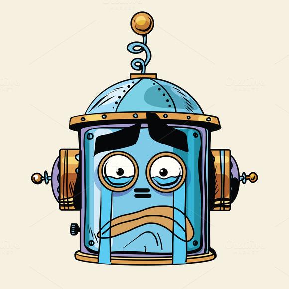 Emoticon Cry Emoji Robot