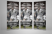 Football Roll Up Banner Tem-Graphicriver中文最全的素材分享平台