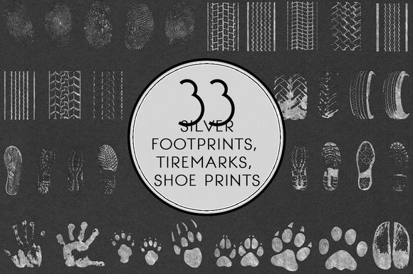 Silver Footprints Tire Marks