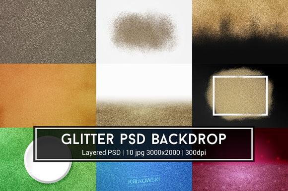 Glitter PSD Backdrop