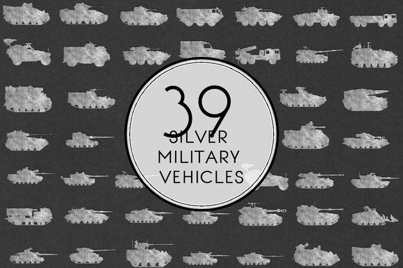 Silver Military Vehicles