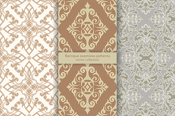 Baroque Luxury Seamless Patterns