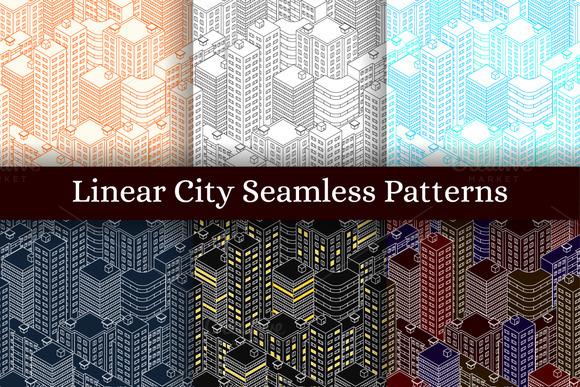 Seamless Patterns Isometric City
