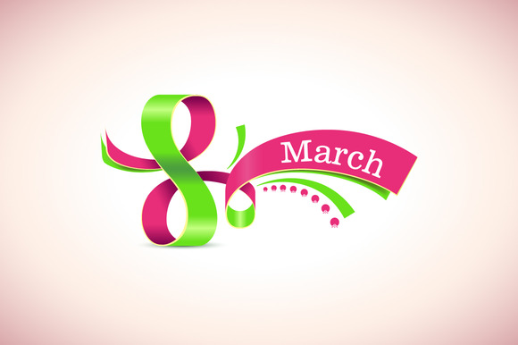 Happy Womens Day. 8 March. Vector. - Illustrations