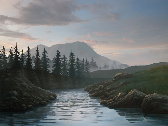 Pines And River