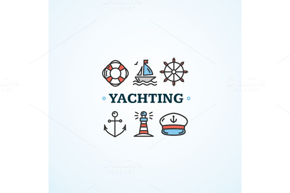 Nautical Sea Yachting Concept