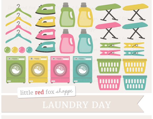 Laundry Digital Clipart Graphics