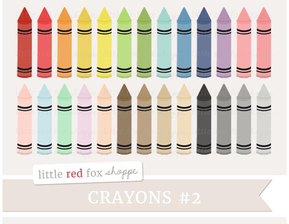 Crayon Digital Clipart Graphics