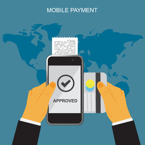 Mobile Payment Concept Vector