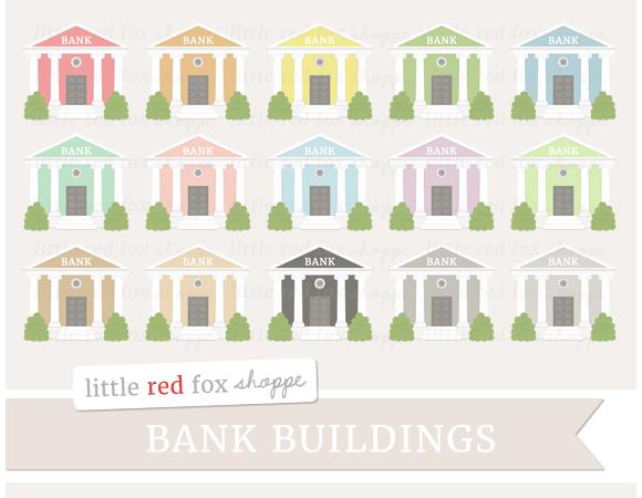 Bank Building Clipart