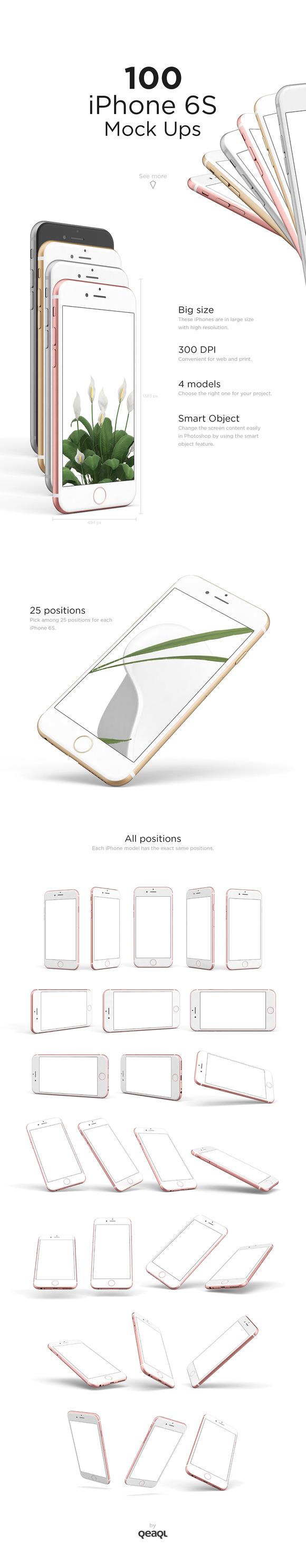 100 IPhone 6S Mock Ups