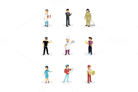 Characters Popular Professions