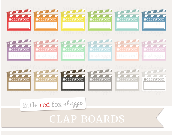 Clapboard Clipart