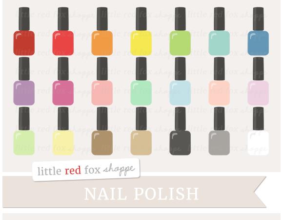 Nail Polish Clipart