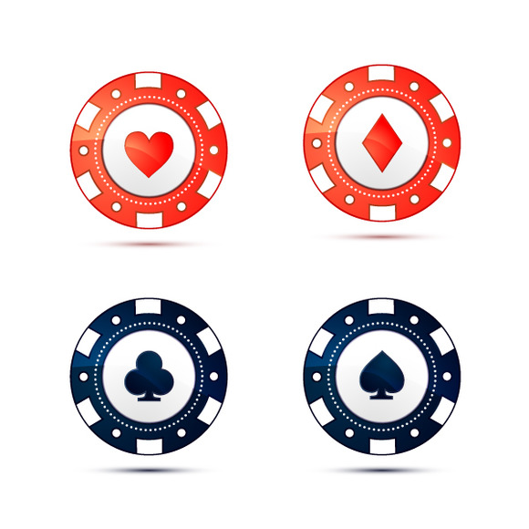 Poke Live Dcf Shapes: Casino Chips With Card Suits Symbols