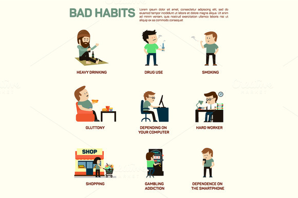 Infographic Of Popular Bad Habits