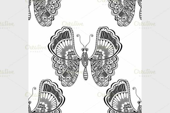 Stylized Brown Butterfly
