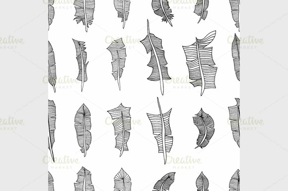Feathers Pattern Background