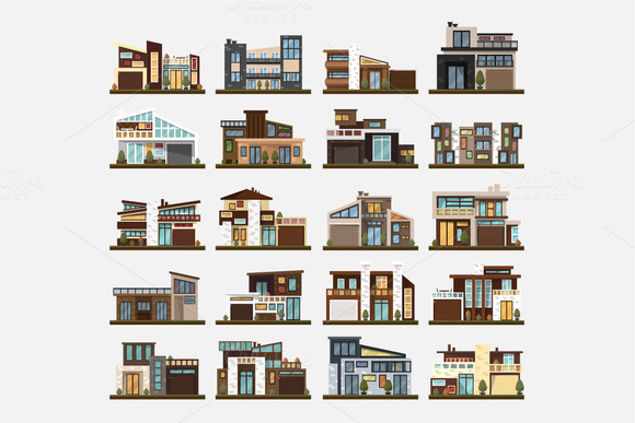 Family home,office building. Big set - Objects