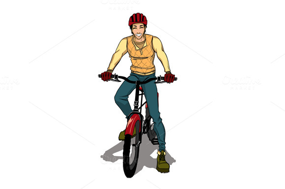 The Young Sports Guy Goes By Bicycle