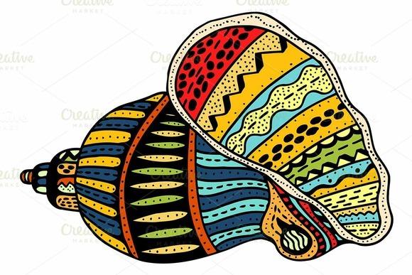 Seashell Line Art
