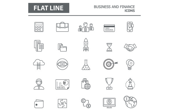 Set Of Modern Simple Line Icons