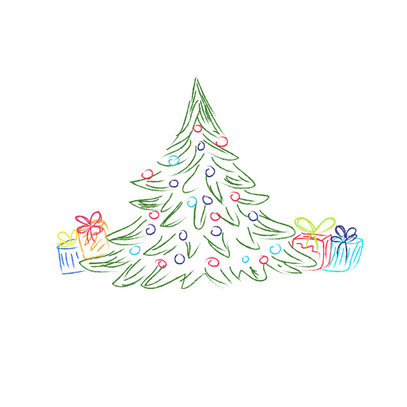 Christmas Tree Gifts Sketch
