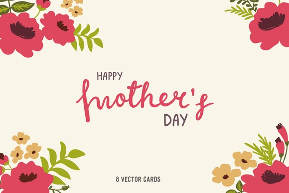 Lettering Happy Mothers Day Cards
