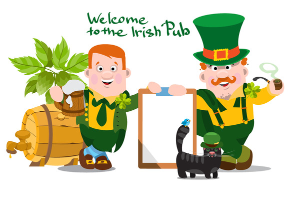 Welcome to the Irish bar. Large set. - Illustrations