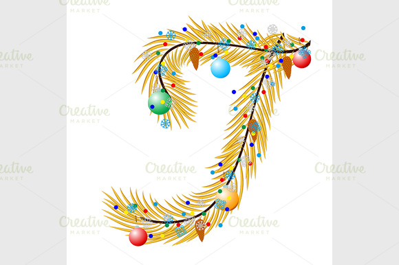 Letter Made Of A Christmas