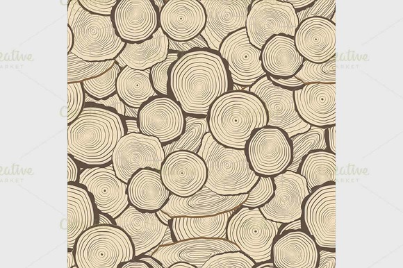 Rings Saw Cut Tree Trunk Background