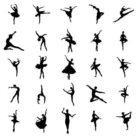 Ballerina Silhouettes Set