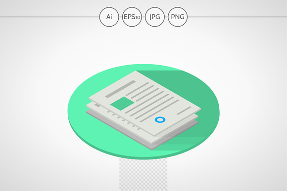 Documents Isometric Web Element