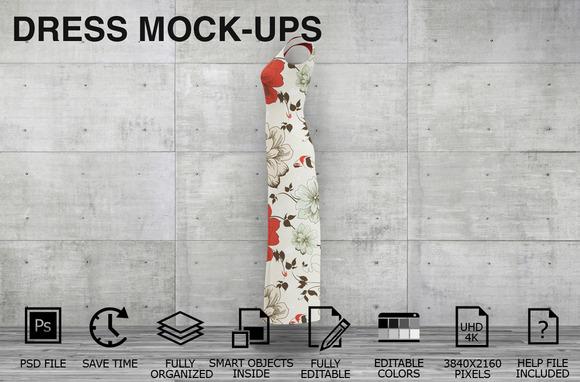 Dress Mockups Women Clothing