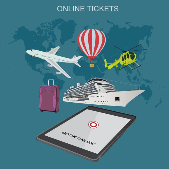 Traveling Tickets Vector