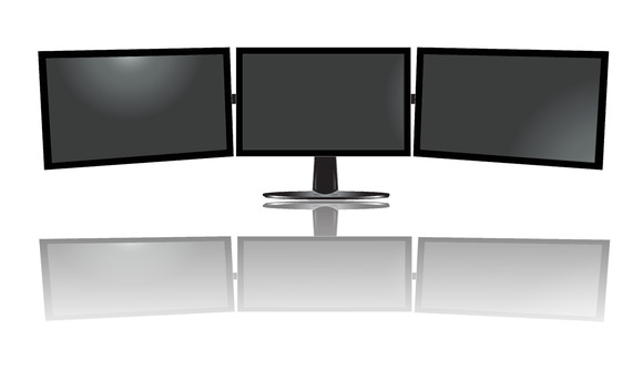 Three Wide Monitor Triple Vector